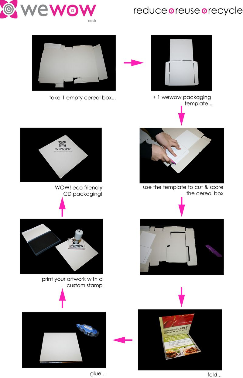 Cereal box photo story